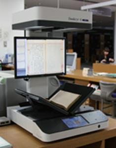 研究資料館でも大型スキャン